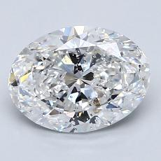 2.01-Carat Oval Diamond Very Good D SI2
