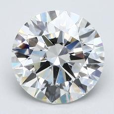 2.01-Carat Round Diamond Ideal G VS1