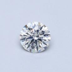 0.40-Carat Round Diamond Ideal F SI2
