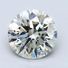 1,71 Carat Rond Diamond Idéale K VS2