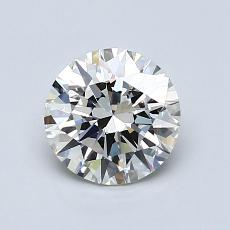 1,00 Carat Rond Diamond Idéale I IF