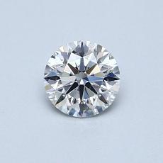 0.51-Carat Round Diamond Ideal E VS2