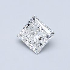 0,50 Carat Princesse Diamond Très bonne F SI1