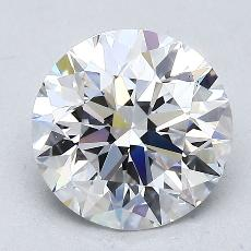 2.00-Carat Round Diamond Ideal D VS2