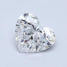 推薦鑽石 #1: 1.00 克拉心形切割鑽石