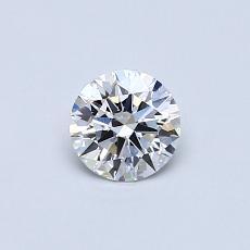 0,40-Carat Round Diamond Ideal D IF