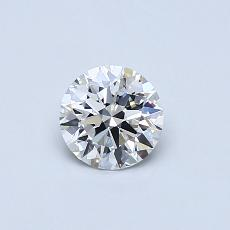 0.50-Carat Round Diamond Ideal E FL