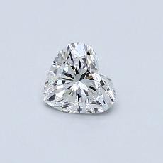 0.42-Carat Heart Diamond Very Good E VVS1