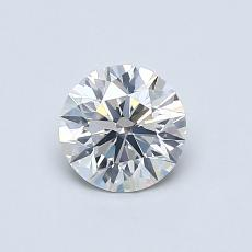 0.60-Carat Round Diamond Ideal I SI2