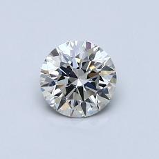 0,51-Carat Round Diamond Ideal J VVS2