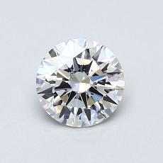 0.70 Carat 圓形 Diamond 理想 G VS2
