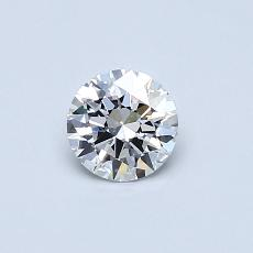 0.41 Carat 圓形 Diamond 理想 D VVS2