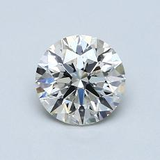 0,90-Carat Round Diamond Ideal J VS2