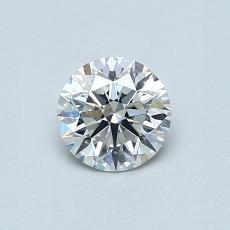 0.51-Carat Round Diamond Ideal F VS1