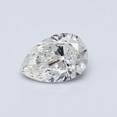 0.50-Carat Pear Diamond Very Good G SI1