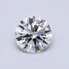 0,71-Carat Round Diamond Ideal F VVS2