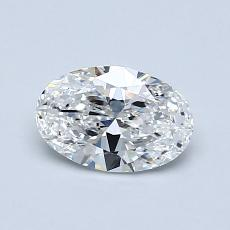 0,70-Carat Oval Diamond Very Good E VS1