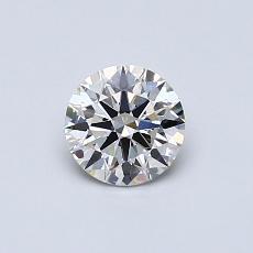 0.53-Carat Round Diamond Ideal J VS2