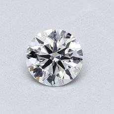 0.53-Carat Round Diamond Ideal J SI2