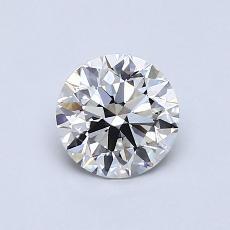 0,80-Carat Round Diamond Ideal F VVS1