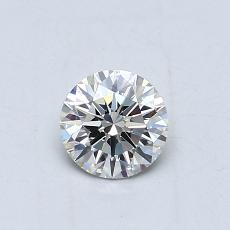 0.51-Carat Round Diamond Ideal J VS1