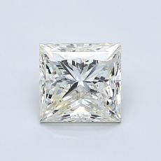 1.00-Carat Princess Diamond Good K SI2