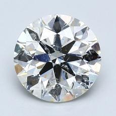 2,01-Carat Round Diamond Ideal J SI2