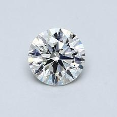 0,60-Carat Round Diamond Ideal I SI1