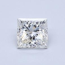 0.71-Carat Princess Diamond Very Good F SI1