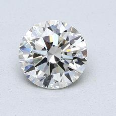 0.90-Carat Round Diamond Ideal J VS2