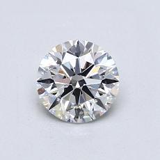 0.70-Carat Round Diamond Ideal D VVS2