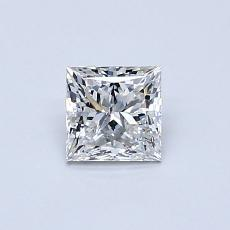 0.50-Carat Princess Diamond Very Good F SI1