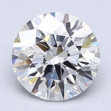 2.00-Carat Round Diamond Ideal F VVS1