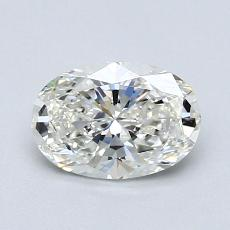 1,00-Carat Oval Diamond Very Good H VVS1