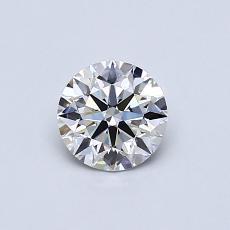 0.53-Carat Round Diamond Ideal G VS1