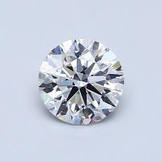 0,76-Carat Round Diamond Ideal D VS1