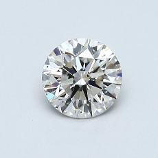 0.50 Carat 圆形 Diamond 理想 J SI1