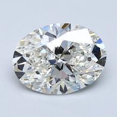 1.50-Carat Oval Diamond Very Good I VVS2