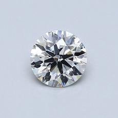 0.58-Carat Round Diamond Ideal D VVS1