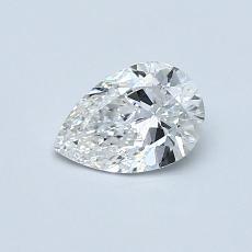 0.50-Carat Pear Diamond Very Good F SI1