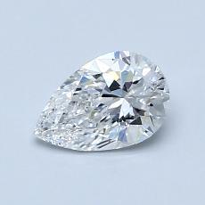 0.70 Carat 梨形 Diamond 非常好 D VVS2