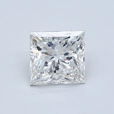 0.90-Carat Princess Diamond Very Good F SI1