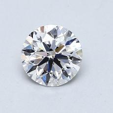 0.70-Carat Round Diamond Ideal D VS2