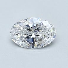 0.70 Carat 椭圆形 Diamond 非常好 D VVS1