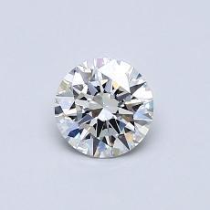 0,50-Carat Round Diamond Ideal F VVS2
