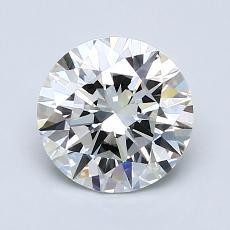 1.50 Carat 圆形 Diamond 理想 G IF