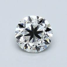 1,01-Carat Round Diamond Good H VS1