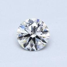 0,50-Carat Round Diamond Ideal E VVS2