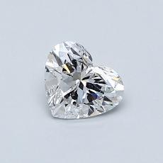 0.52 Carat 心形 Diamond 非常好 D SI1