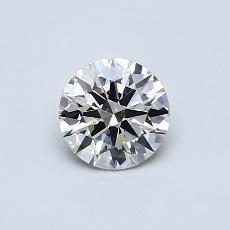 0,54-Carat Round Diamond Ideal J VS1